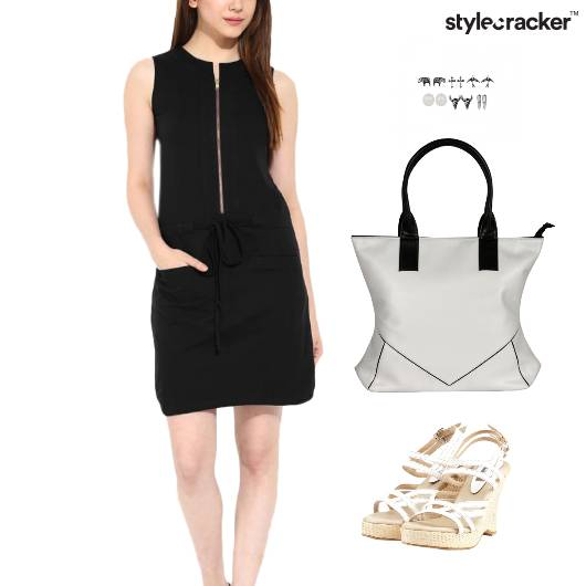 Zipper Dress Wedge Footwear Brunch - StyleCracker