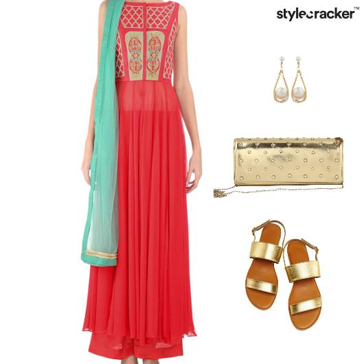 Indian Festive Ethnic Reception Flats - StyleCracker