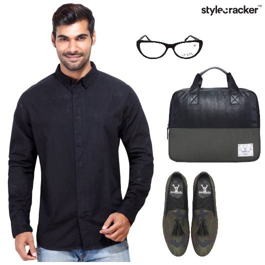 Shirt Loafers Trousers LaptopBag Casual - StyleCracker