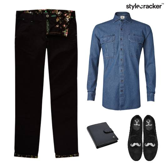 Denim Shirt Chino Pants Lunch - StyleCracker