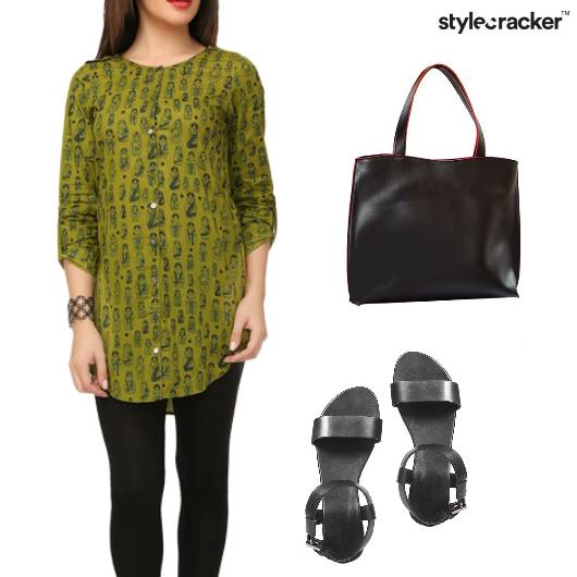 Printed Kurta Indian Work Basic - StyleCracker