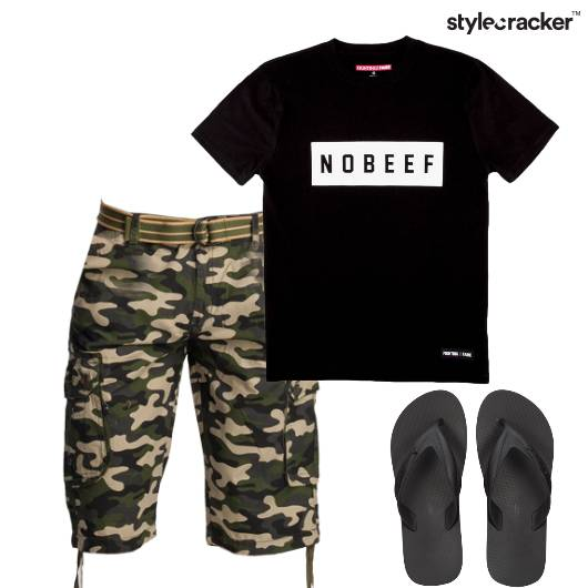 Tshirt Military Shorts Casual Basics - StyleCracker