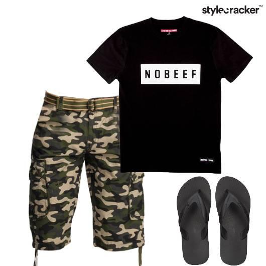 Tshirt Military Shorts Casual Basics - StyleCracker