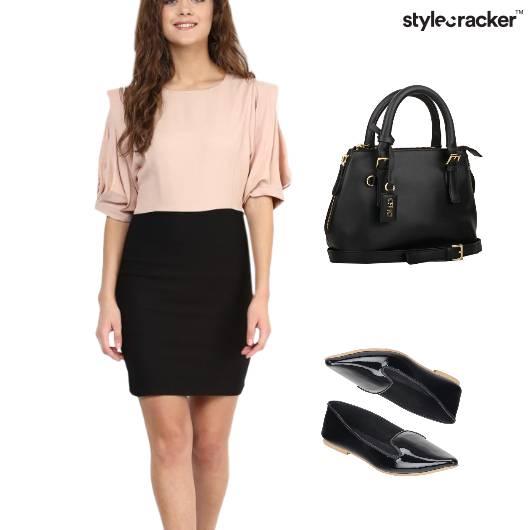 Work Meeting Balletflats Blouse Dress - StyleCracker