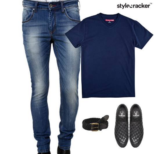 Casual TShirt Denim Lunch Slipon Footwear - StyleCracker