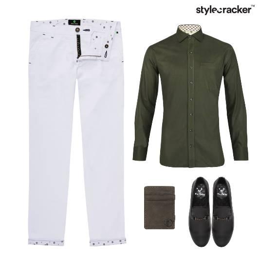 Shirt Chinos Bottoms SlipOn Footwear - StyleCracker