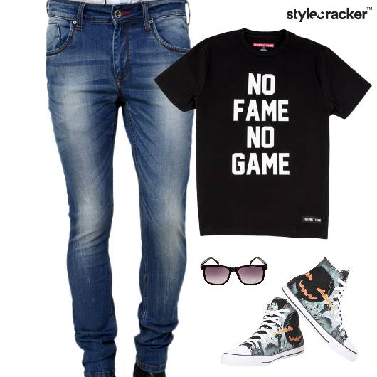 Casual TShirt HiTop Footwear Denim - StyleCracker