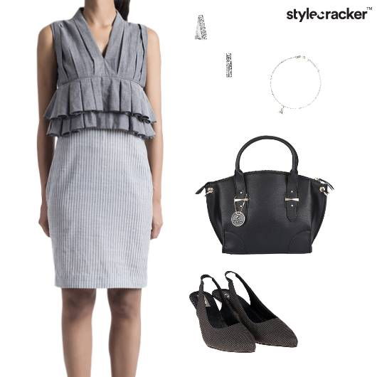 VNeck Peplum Dress Weekend Formal Party - StyleCracker