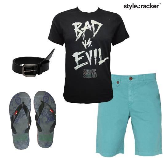 Tshirt Shorts Casual Basic College - StyleCracker