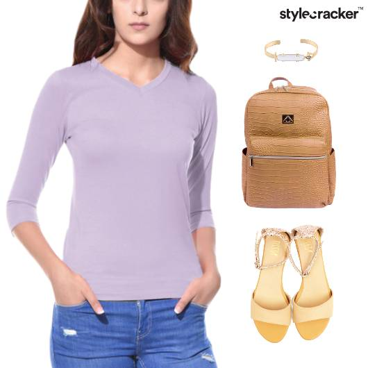 Casual TShirt Backpack Flats College - StyleCracker