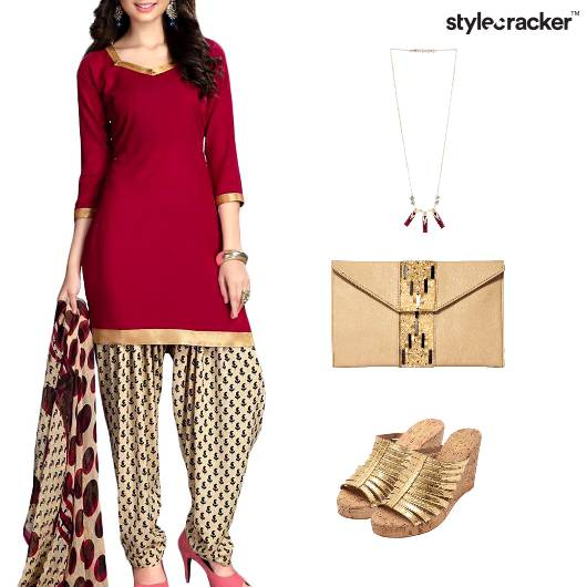 Indian Festive Ethnic Clutch Wedges - StyleCracker