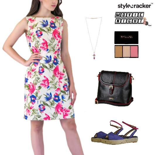 Floral Printed Dress SlingBag MovieNight - StyleCracker
