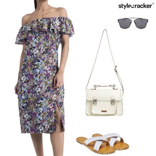 OffShoulder Slit Dress Sunday - StyleCracker