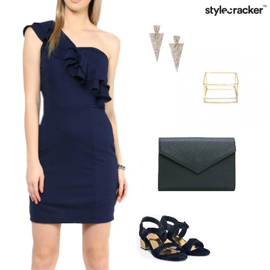 Frill OneShoulder Dress Weekend Party - StyleCracker