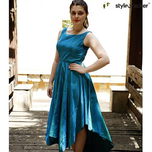 Highlow Flared Dress Occasion  - StyleCracker