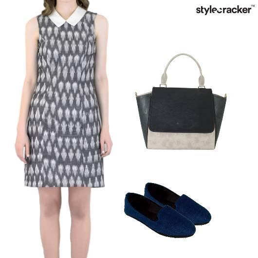 Collar Shift Dress Casual Work - StyleCracker