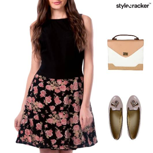 Floral Print Dress BalletFlats Lunch - StyleCracker