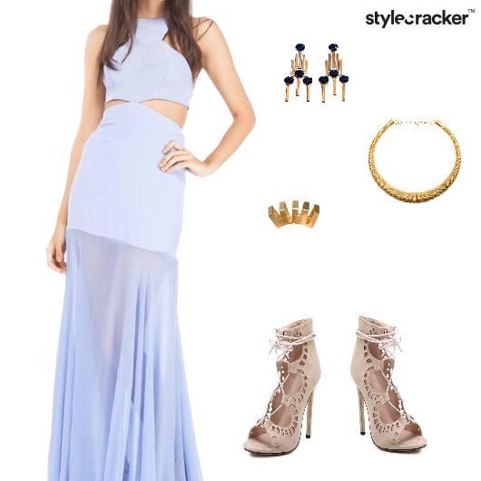 HalterNeck Maxi Dress Night Party - StyleCracker