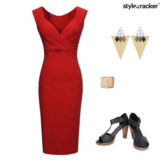 Bodycon Midi Dress Night Party - StyleCracker