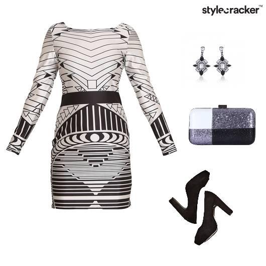 Bodycon Fullsleeves Short Dress Stripes - StyleCracker