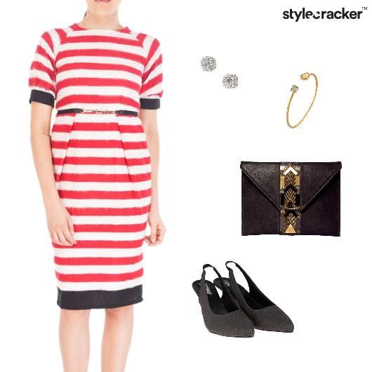 Midi Stripe Dress Outdoor Lunch - StyleCracker