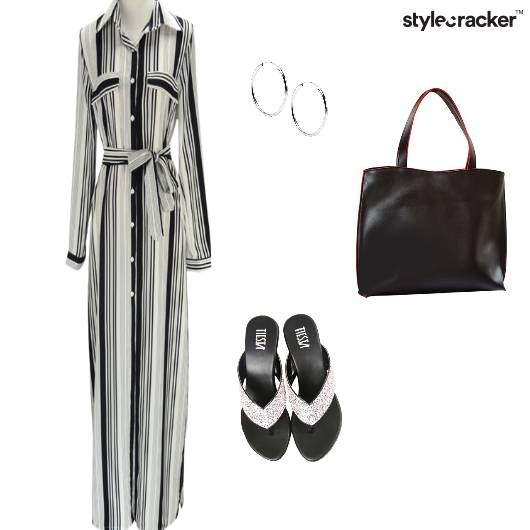 Collar Stripe Maxi Dress Shopping - StyleCracker