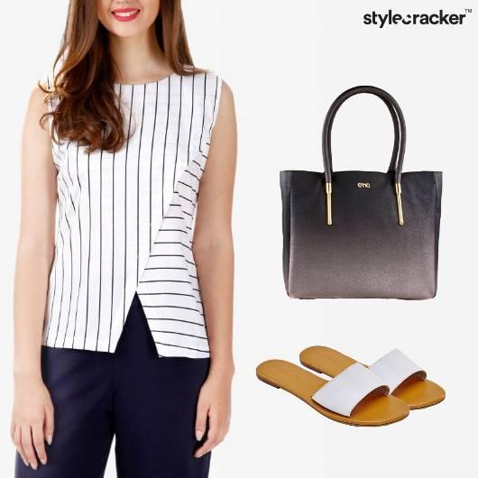 Stripe Top Pants Work Casual - StyleCracker