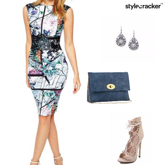 Bodycon Dress Laceup Slingbag Party - StyleCracker