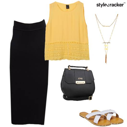 Top Skirt Maxi SlingBag Flats  - StyleCracker