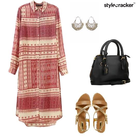 Kurta Leggings Flats Handbag Indian - StyleCracker