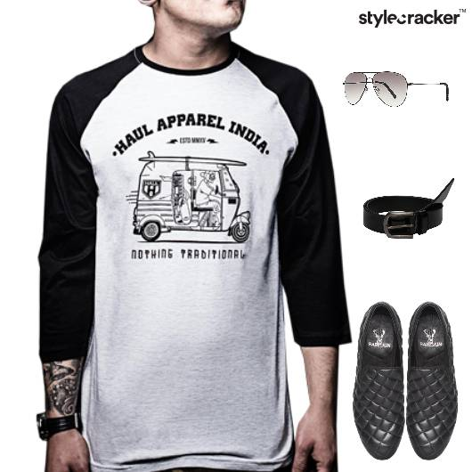 Casual TShirt SlipOn Footwear Lunch - StyleCracker