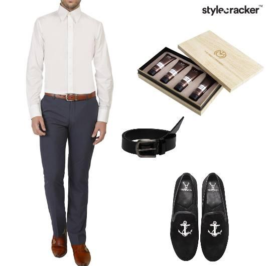 Shirt Trousers Belt Loafers Belt work - StyleCracker
