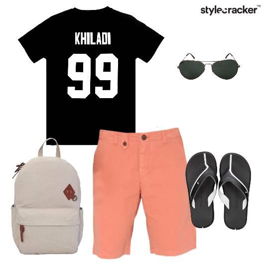 Tshirt Shorts FlipFlops Backpack Casual - StyleCracker