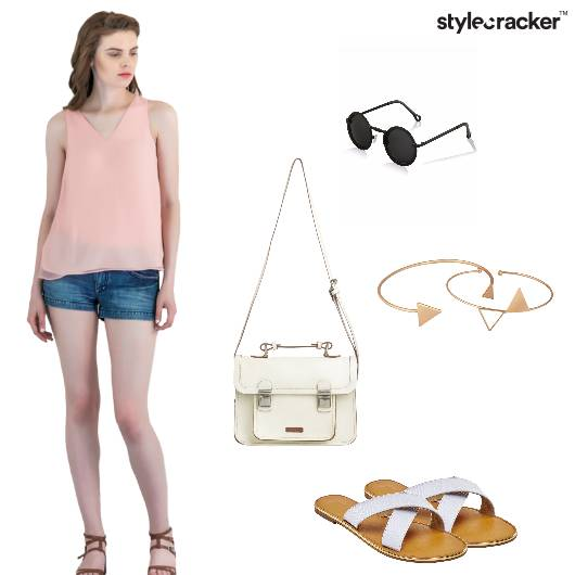 Top Shorts Slingbag StackedBracelets Casual - StyleCracker