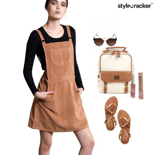 Playsuit  Suede Casual Backpack StuddedStraps - StyleCracker