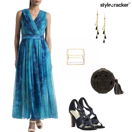 Dress Maxi Heels Clutch Party - StyleCracker