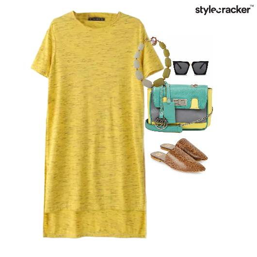 Yellow Casual Cateyes Sling Slip-ons - StyleCracker