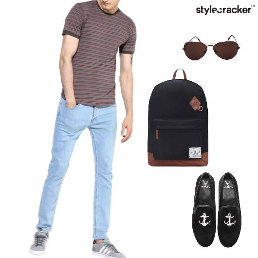 Tshirt Chinos Loafers Backpack Casual - StyleCracker