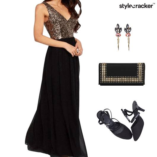 Gown Clutch Accessories Slingback Footwear - StyleCracker