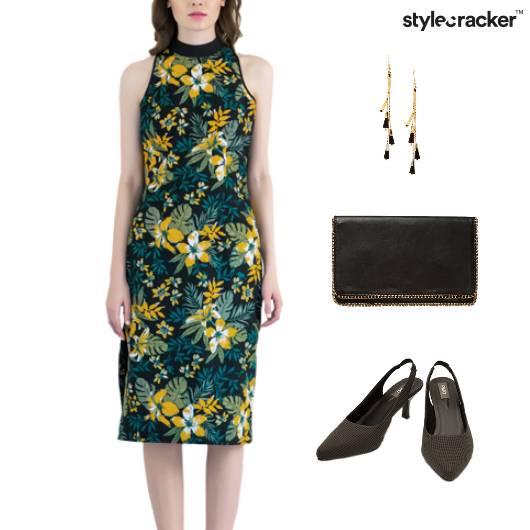 Floral Print Dress Clutch Weekend - StyleCracker