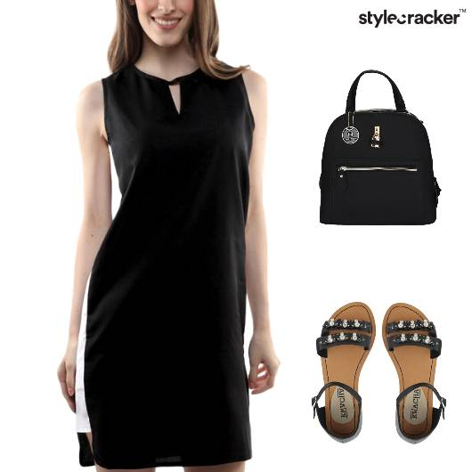 Colorblock Dress Flats Backpack Lunch - StyleCracker
