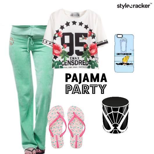 Tshirt Trackpants FliFlops Basic Morning - StyleCracker