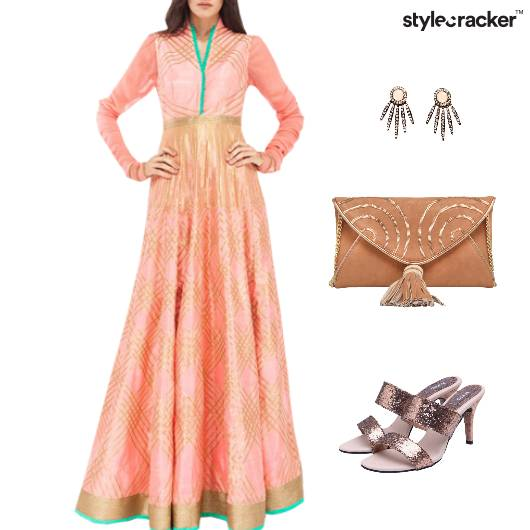 Indian Festive Reception Ethnic Clutch  - StyleCracker