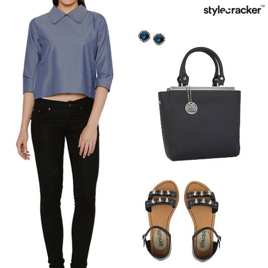 Collar croptop Work Casual - StyleCracker
