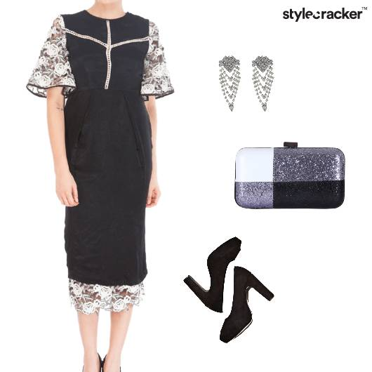 Flared Sleeves MidiDress Party - StyleCracker