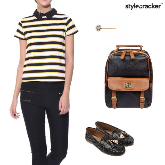 Stripe Tshirt Casual College Outdoor - StyleCracker