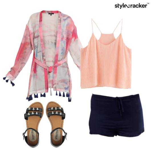 TankTop Shorts Cardigan Casual - StyleCracker