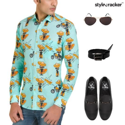 Printed Shirt Slipon Footwear Lunch - StyleCracker