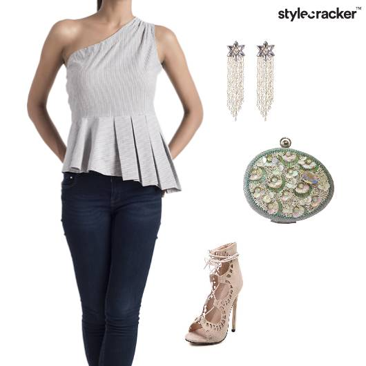 Peplum OneShoulder Top Party  - StyleCracker