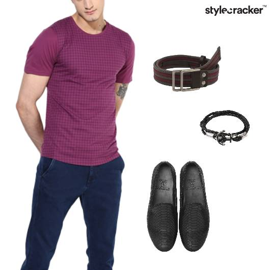 ChecksPrint Tshirt Casual Weekend Party - StyleCracker
